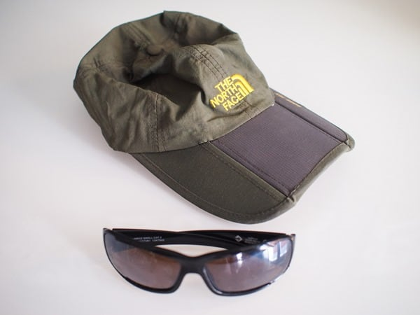Cap and sunglasses