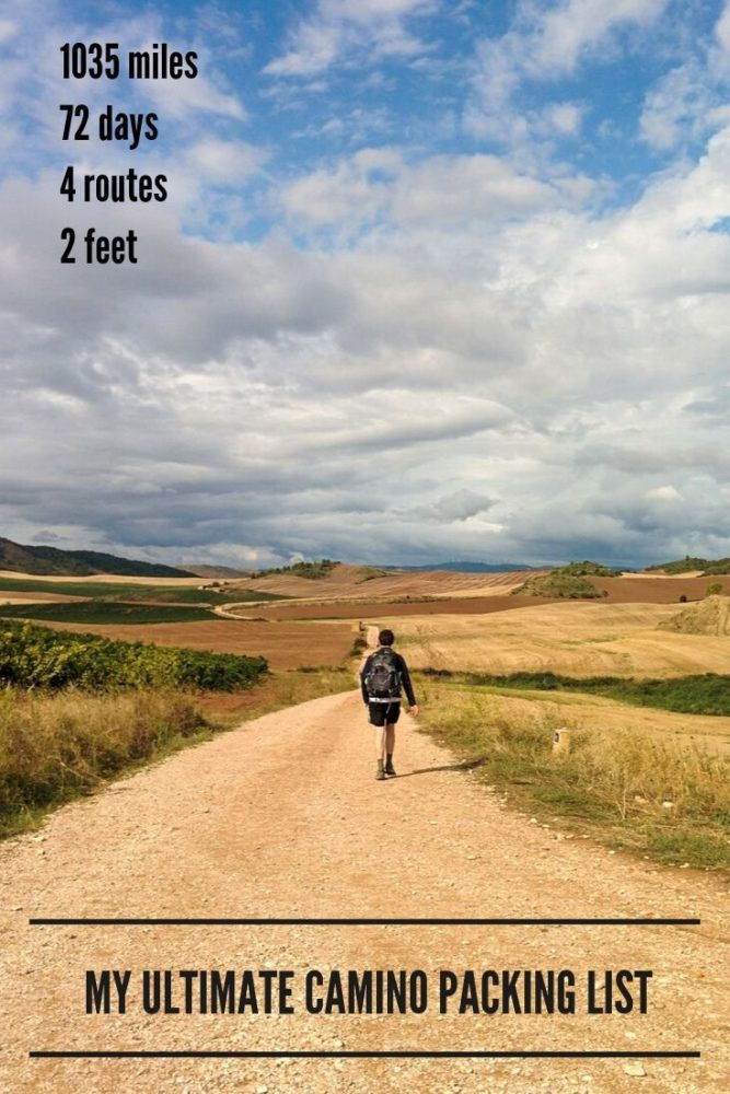 1035 miles - My Ultimate Camino Packing List