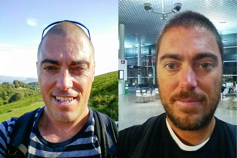 Camino - before and after