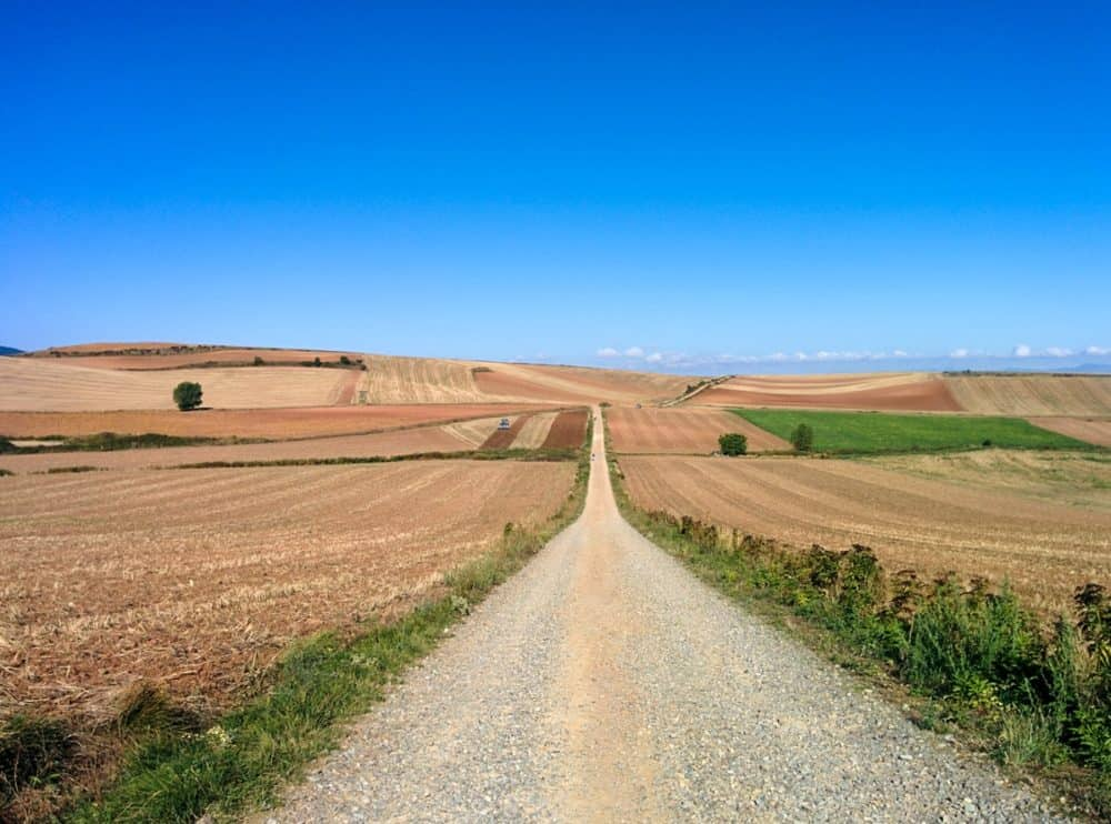 Empty trail on the Camino de Santiago
