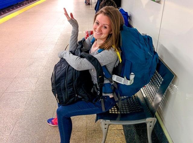 Lauren in Madrid metro