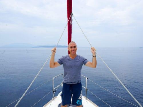 Dave at the mast