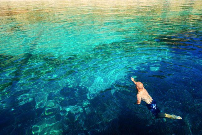 Swimming Dave