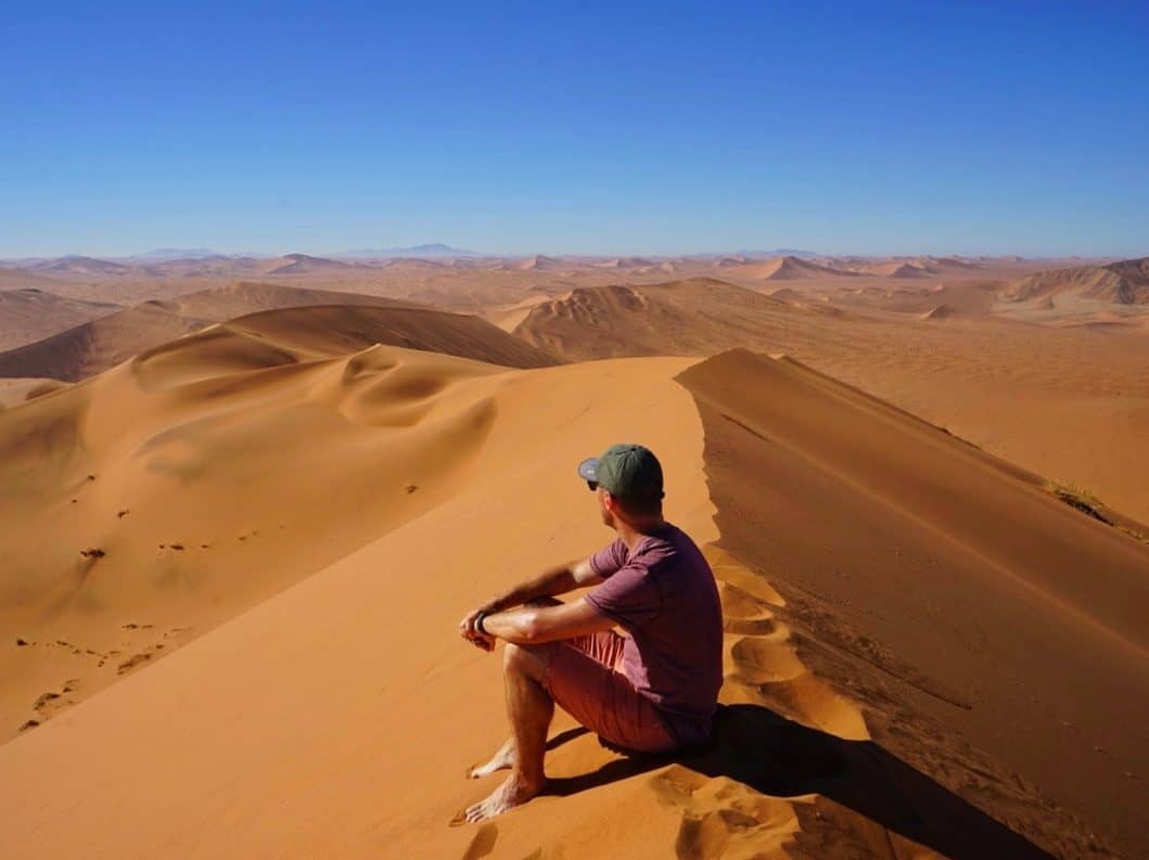Sand dunes and Dave