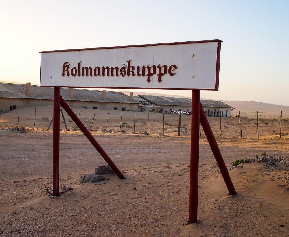 Kolmanskop sign