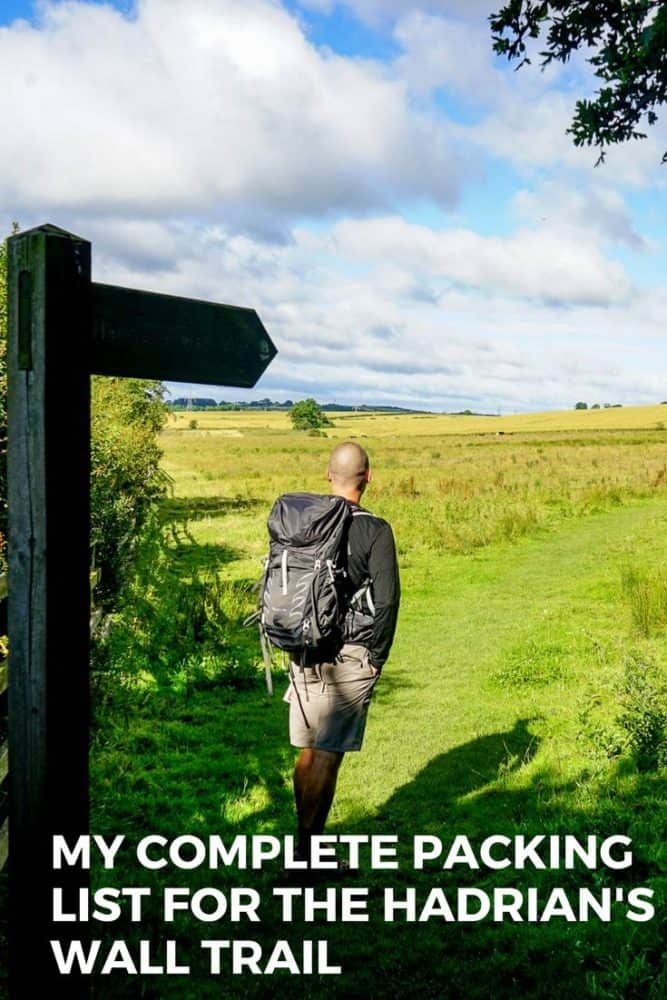 Hadrian's Wall Trail Packing List