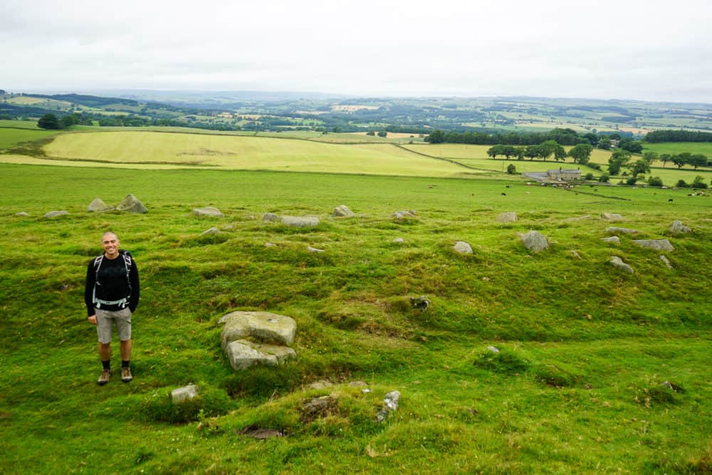 Dave at Limestone corner, Hadrian's Wall Trail