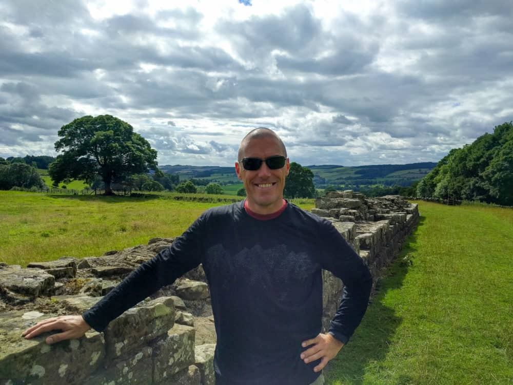Dave - sunglasses, Hadrian's Wall