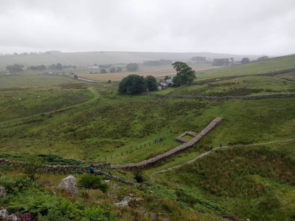Hadrian's Wall Trail, coming in to Once Brewed