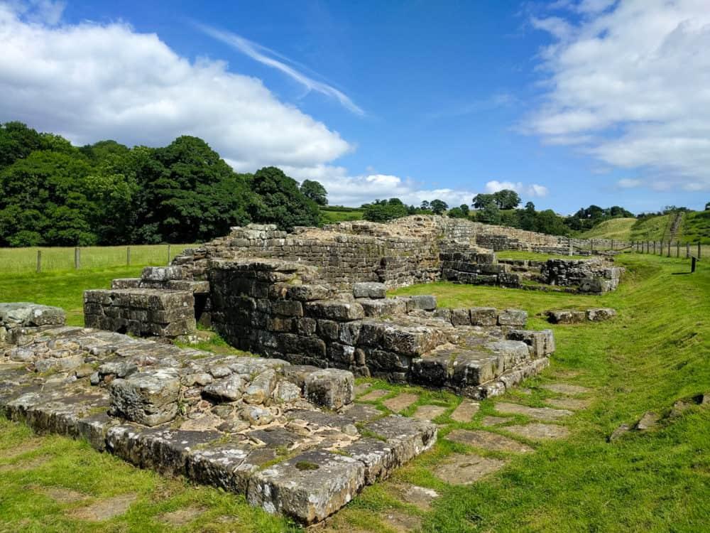 Hadrian's Wall Trail, day 4 bridge remains