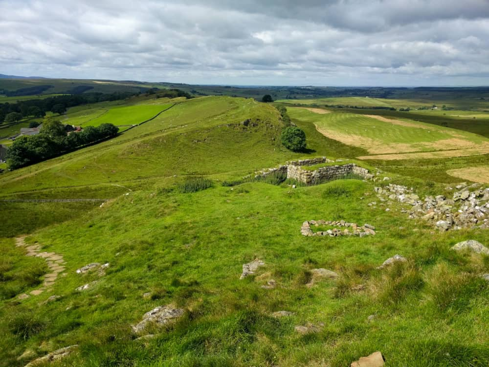 Hadrian's Wall Trail, hills and trail