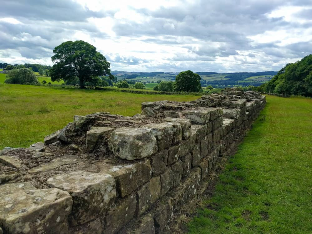 Hadrian's Wall Trail, large chunk of wall, day 2