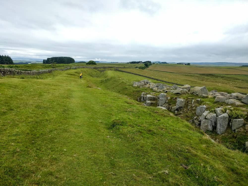 Hadrian's Wall Trail, walkers ahead