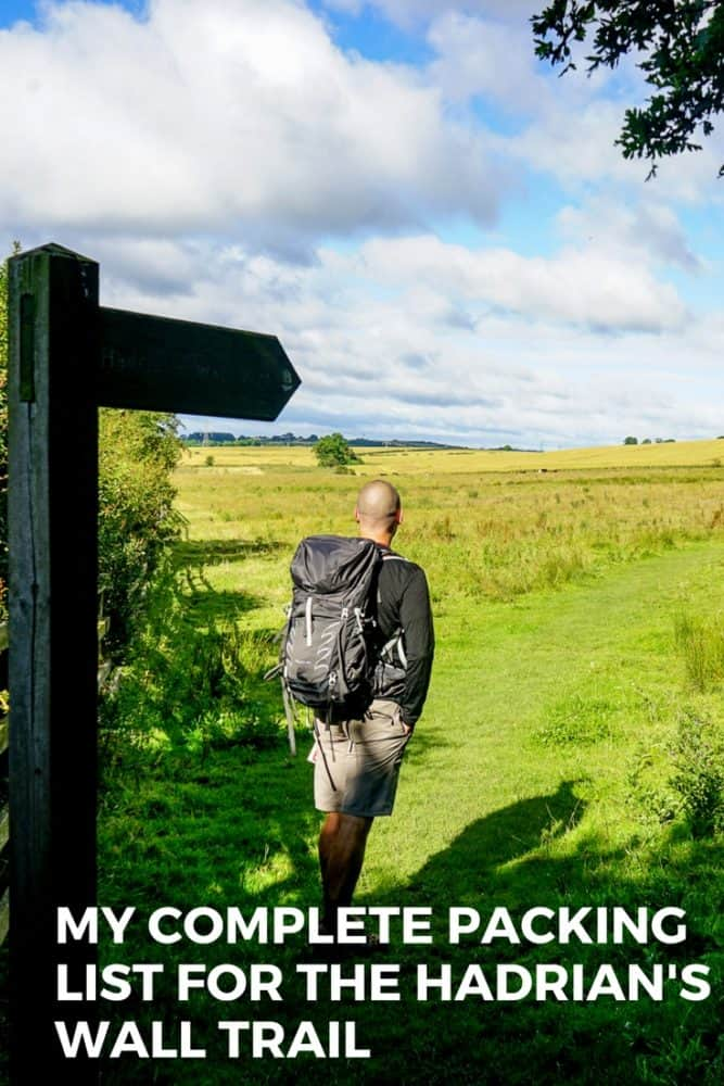 My Complete Hadrian's Wall Trail Packing List