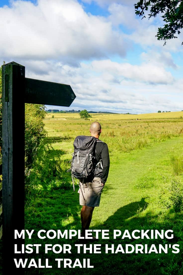 Complete Hadrian's Wall packing list