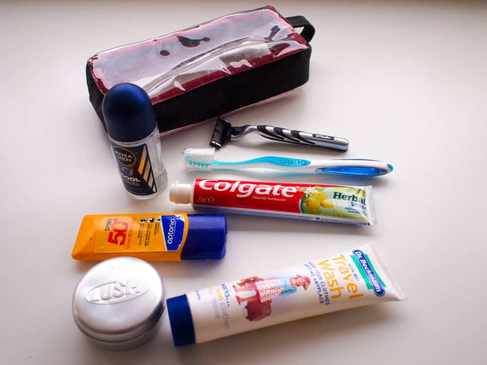Packing list - toiletries