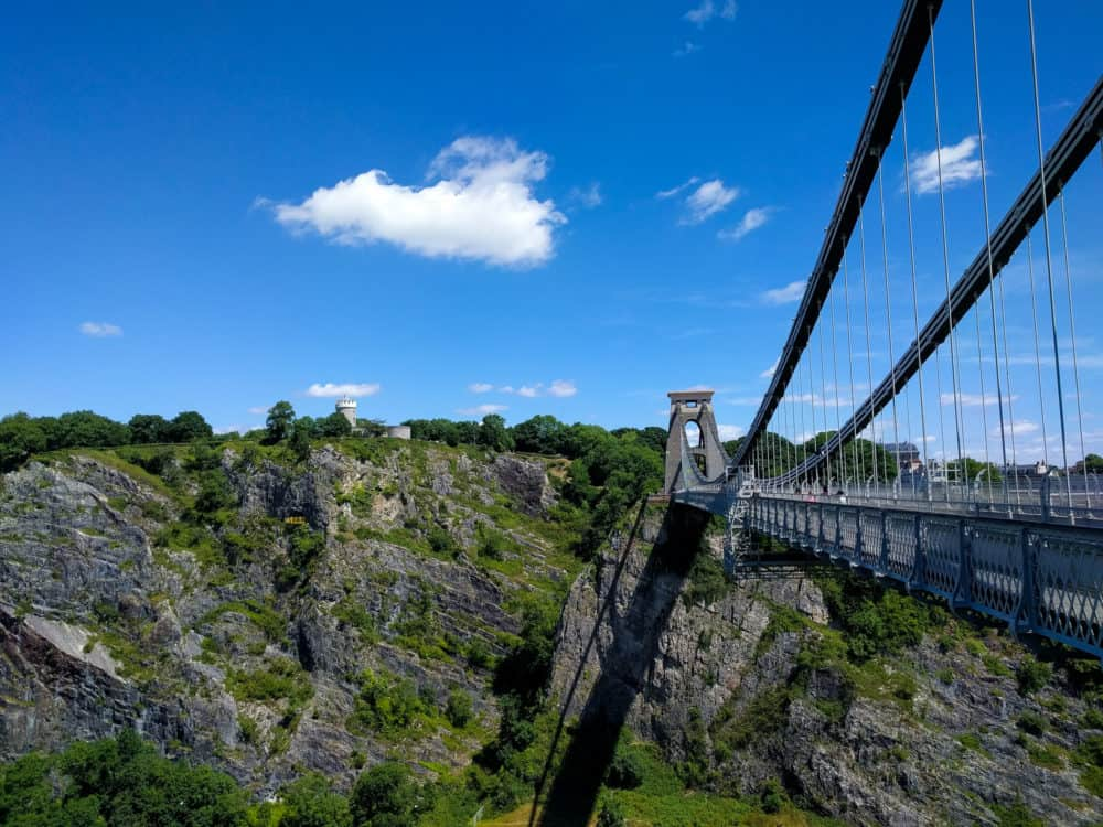Clifton suspension bridge view