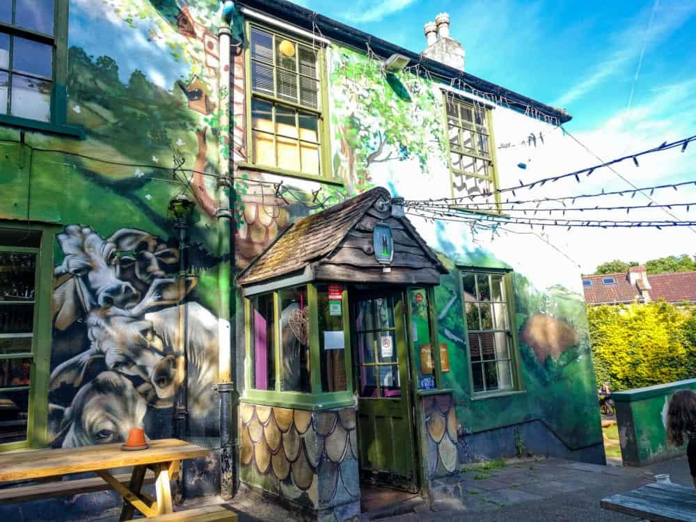 Painted pub wall, Bristol
