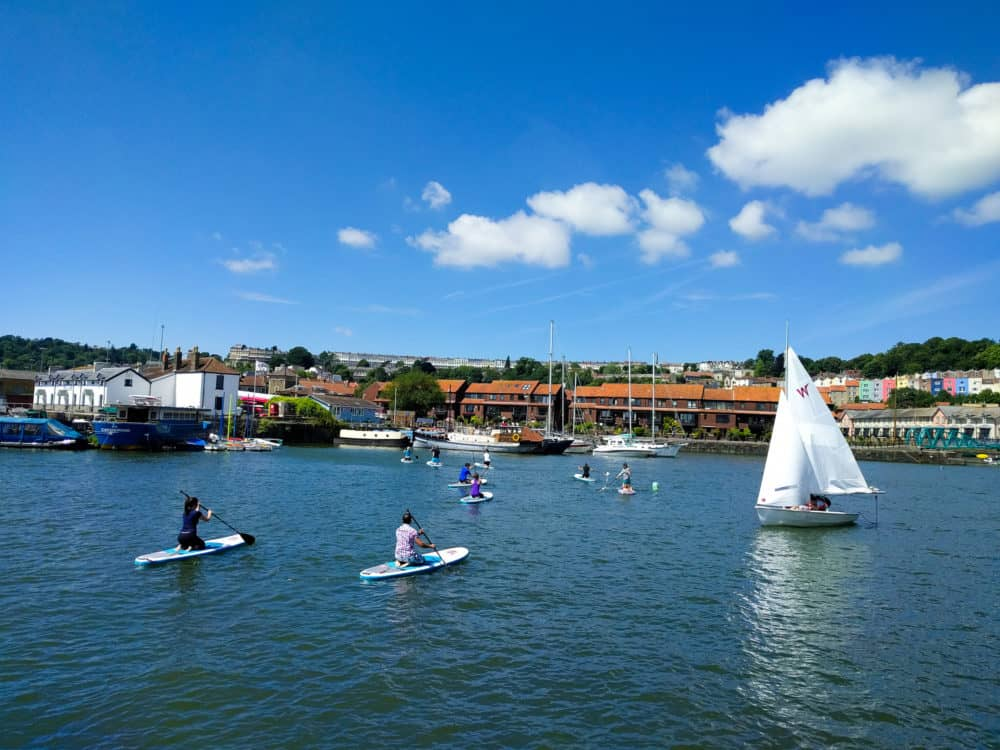 Sailing and SUP, Bristol