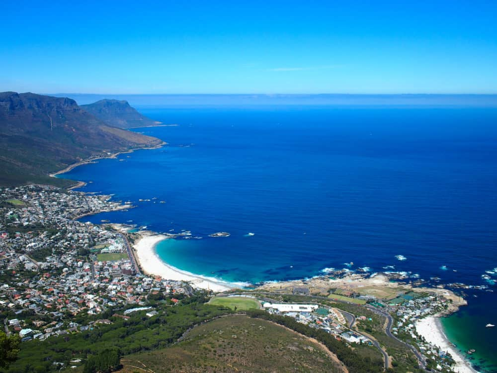View of Camps Bay from Lion's Head