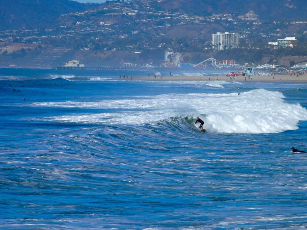 Surfing, Venice beach
