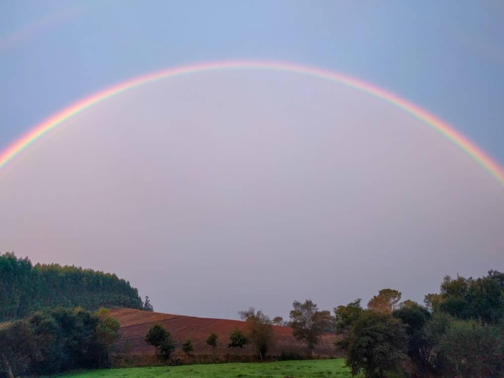 Rainbow, Camino Portuguese
