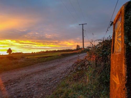 Sunrise arrow, Camino Portuguese