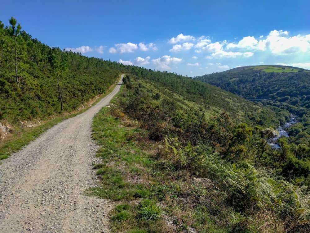 Trail and river, Camino Portuguese