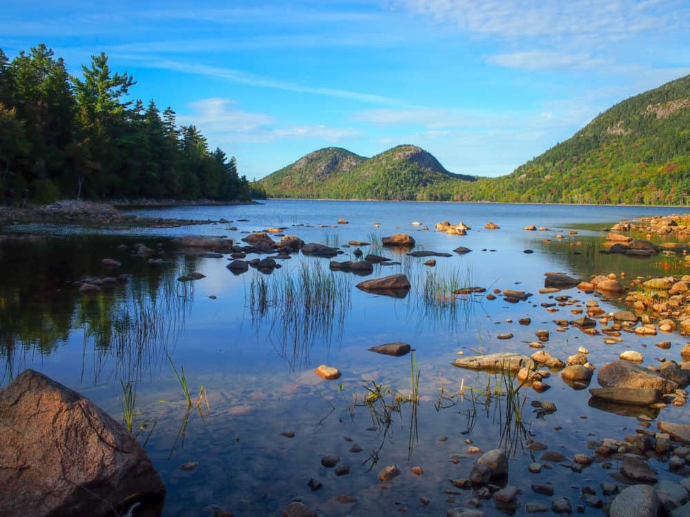 Bubbles, over Jordan Pond