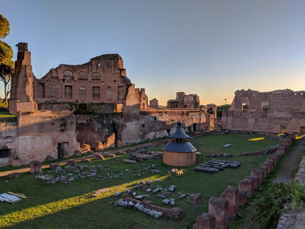 On top of Palatine Hill, Rome