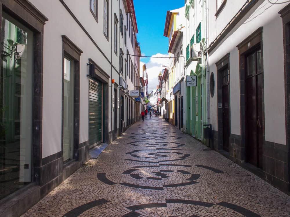 Ponta Delgada pedestrian street