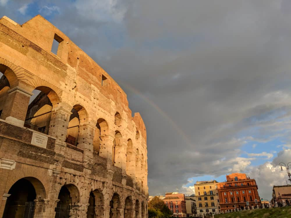 Rainbow over the Colosseum