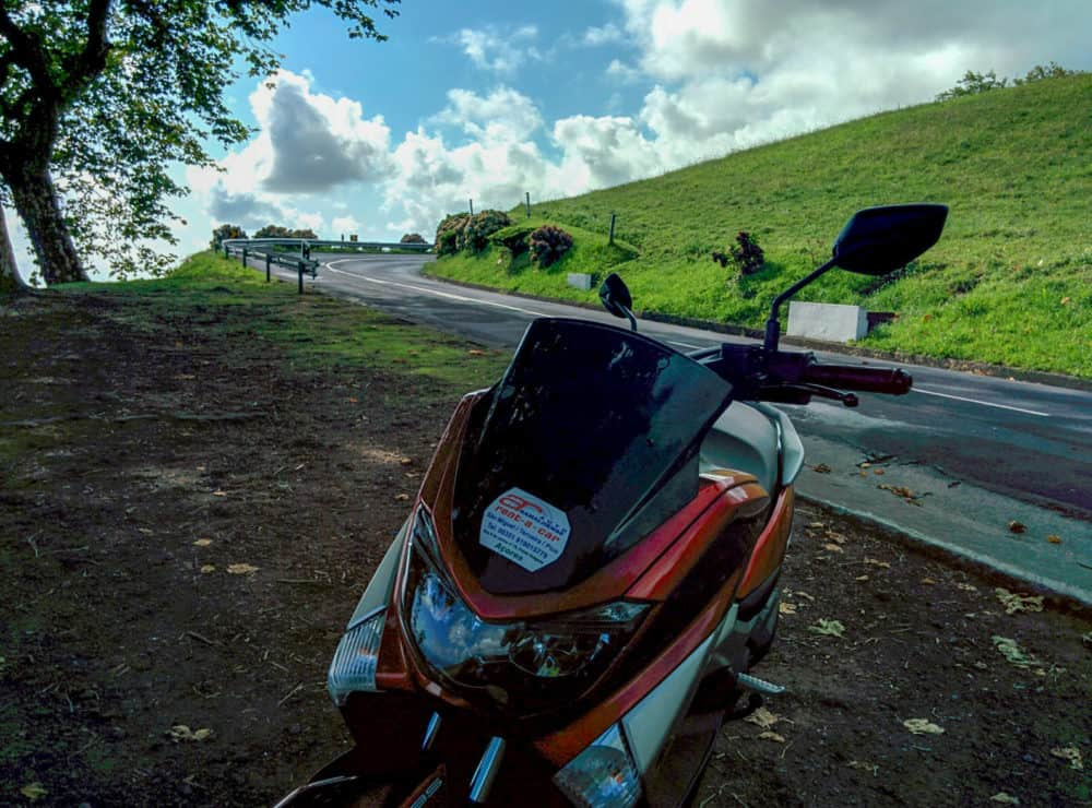 Scooter in the Azores