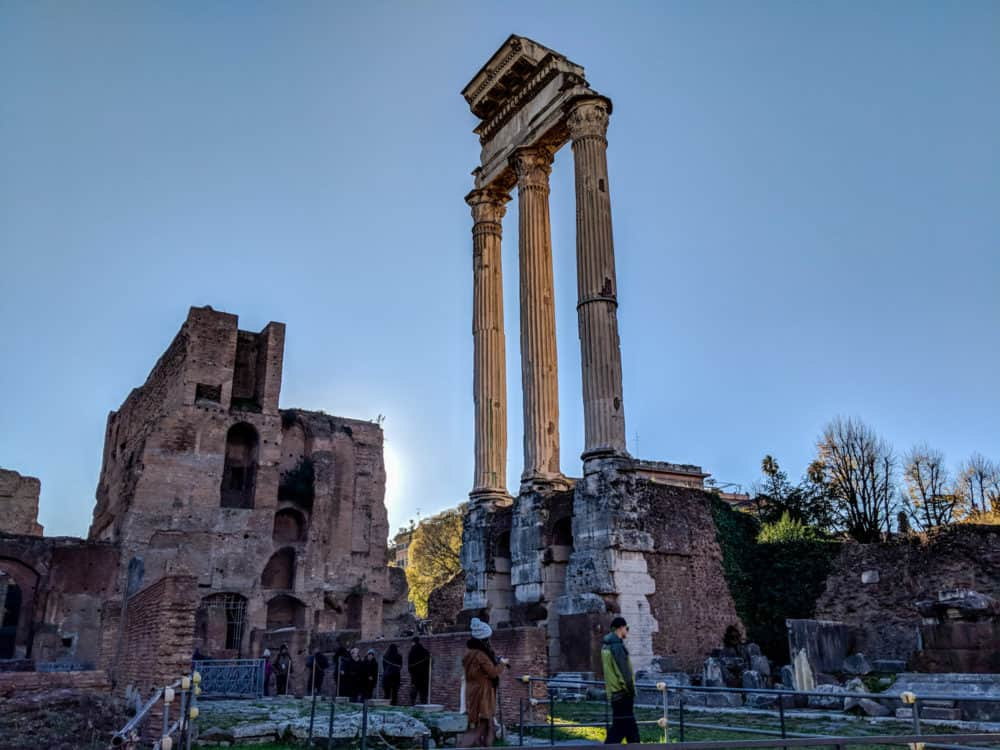 Three columns in the Forum, Rome