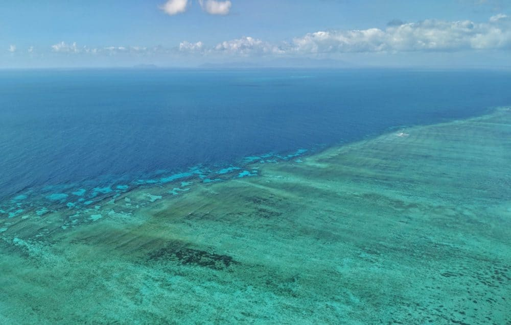 Great Barrier Reef from plane