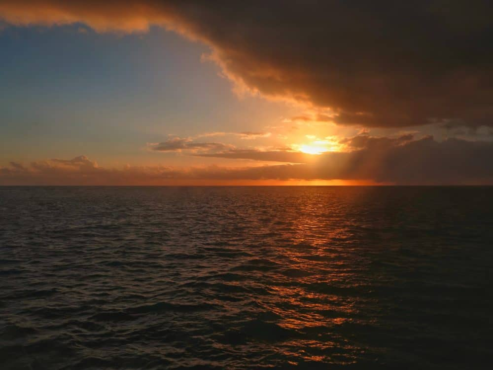 Sunrise on the Great Barrier Reef