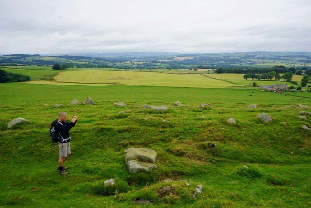 Taking photos, Hadrians Wall