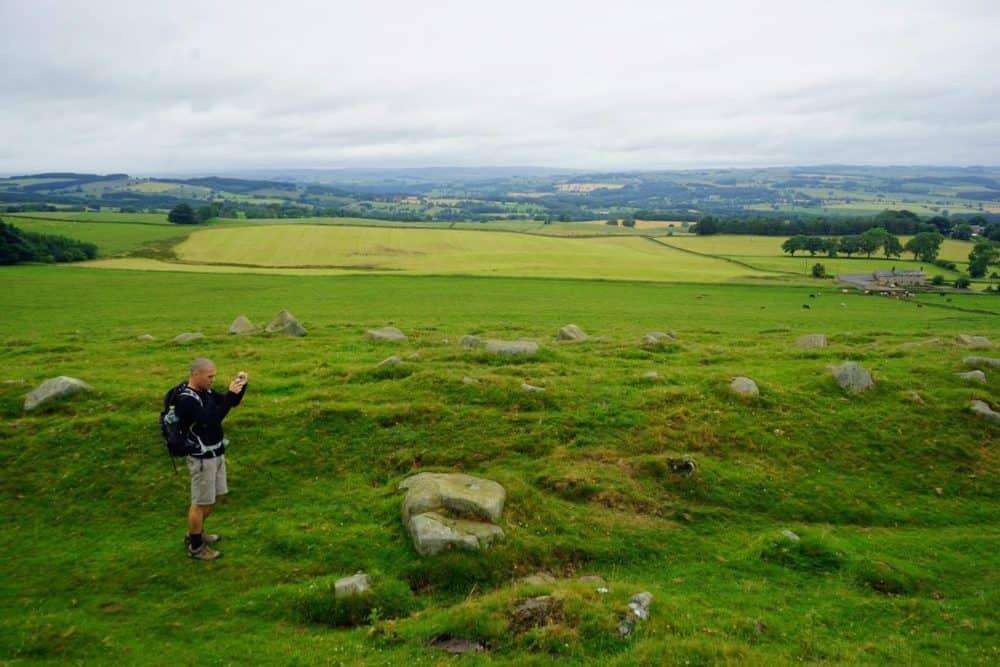 Taking photos, Hadrians Wall