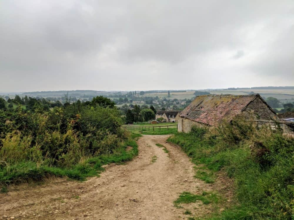 Approaching Chipping Campden, Cotswold Way
