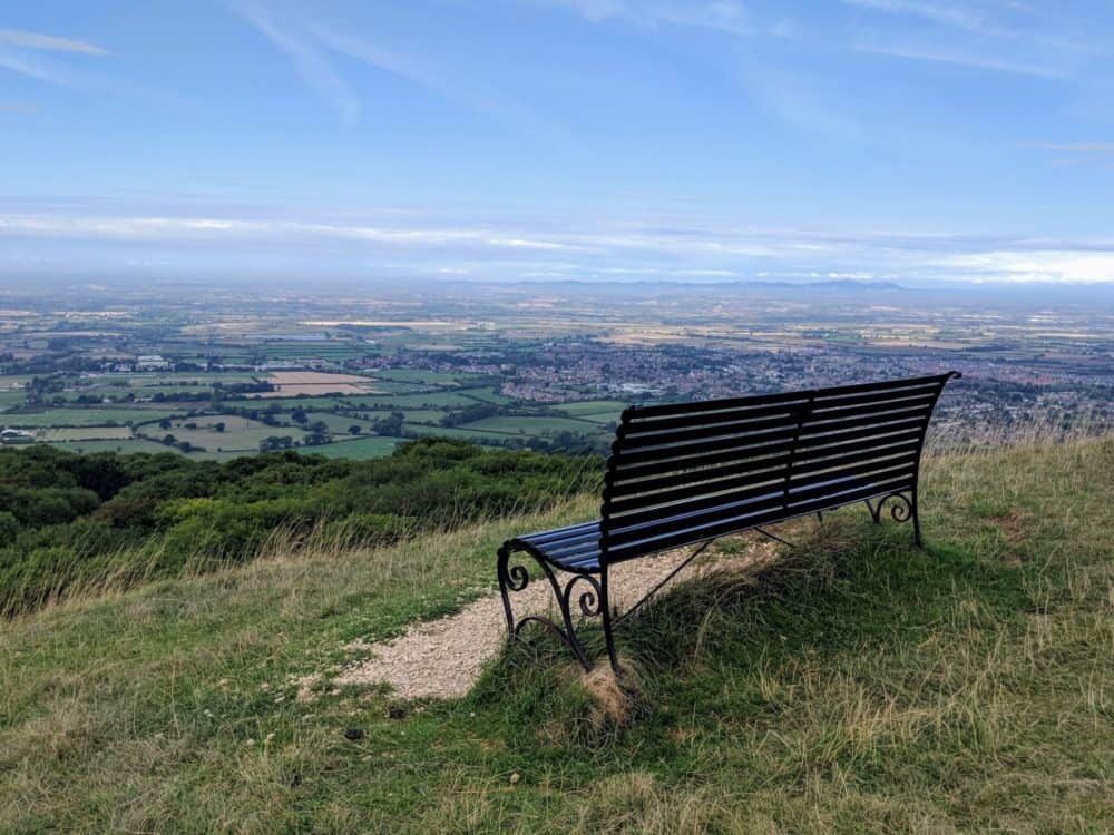 Bench with a view, Cotswold Way