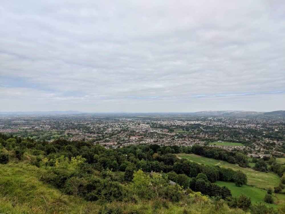 View over Cheltenham, Cotswold Way