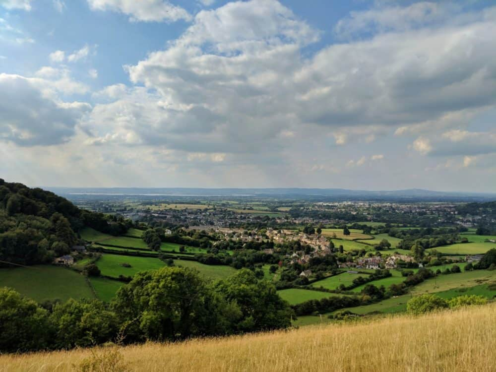 View from Selsley Common, Cotswold Way