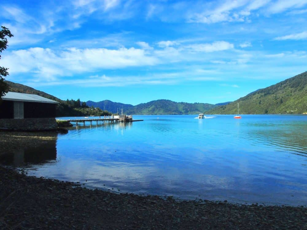 Leaving Furneaux Lodge, Queen Charlotte Track