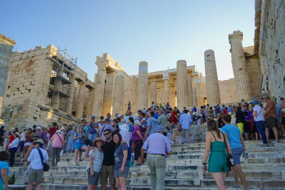 Acropolis with the crowds