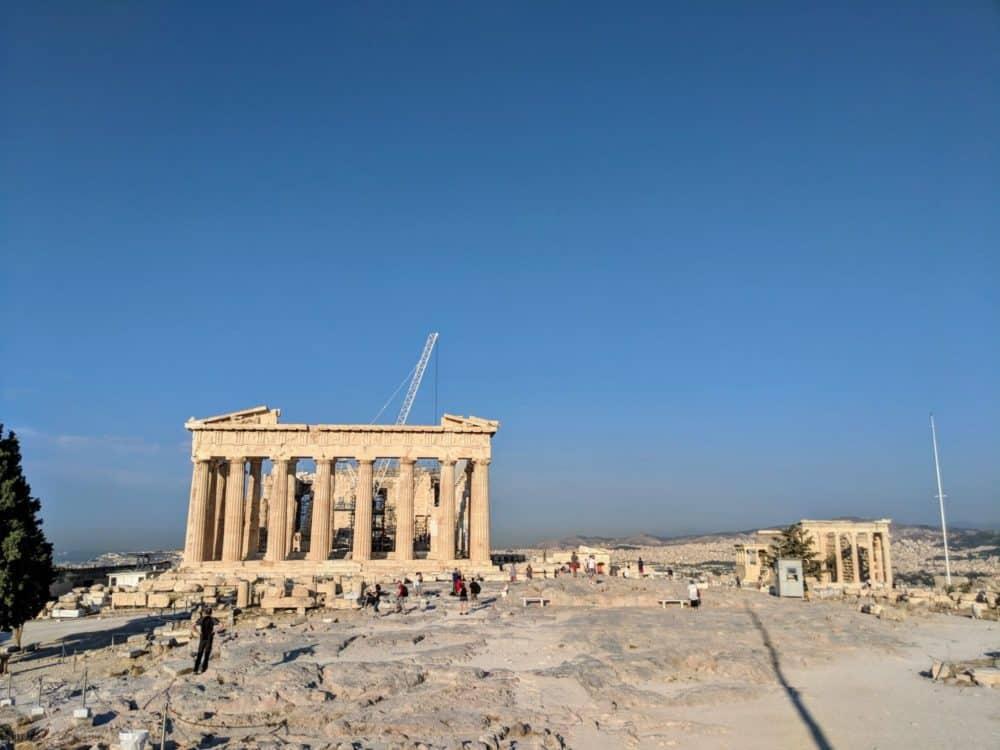 Looking back, Acropolis