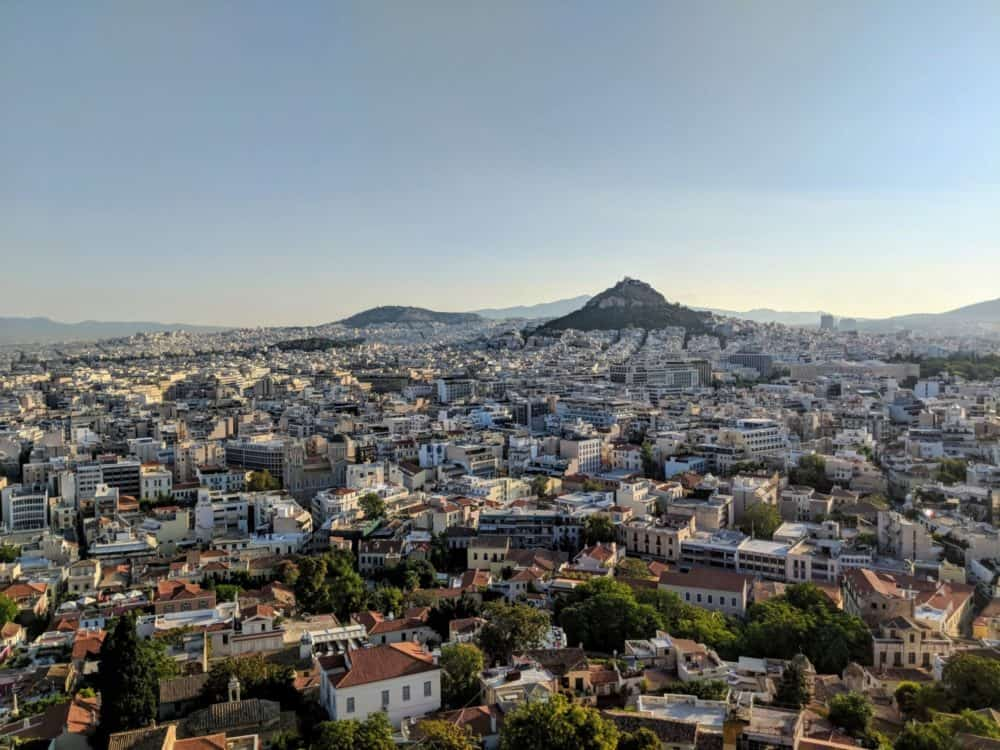 View from the top of the Acropolis
