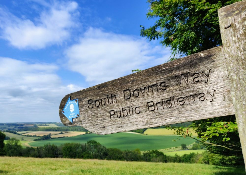 South Downs Way public bridleway signpost