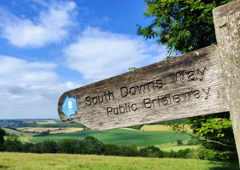South Downs Way public bridleway signpost