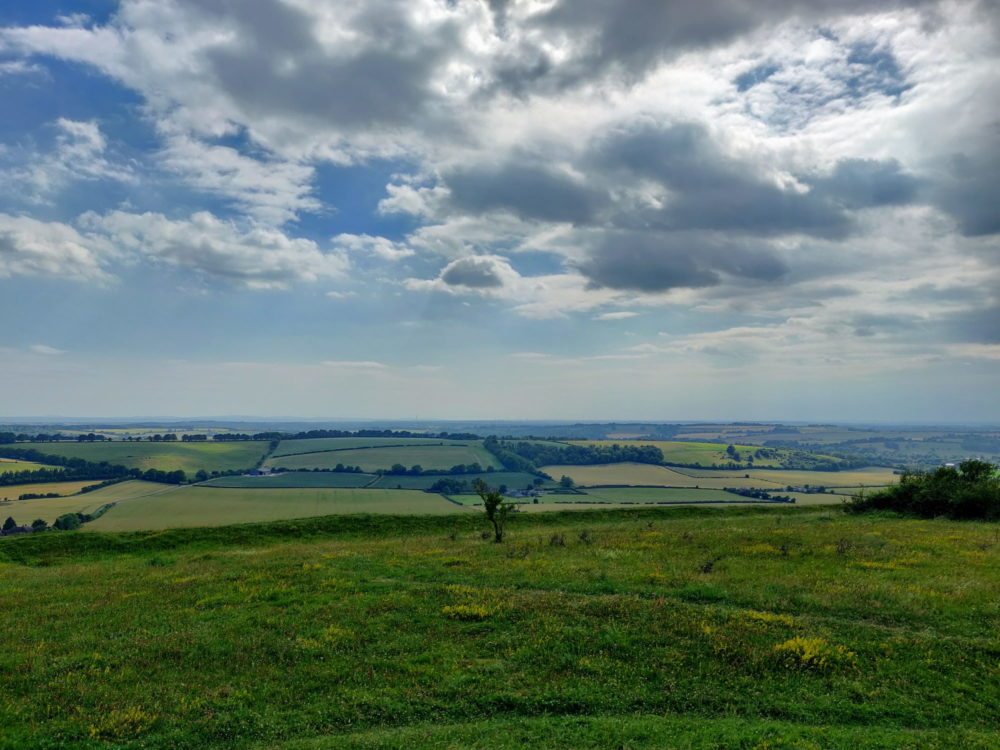 South Downs Way, View from the top of Old Winchester Hill