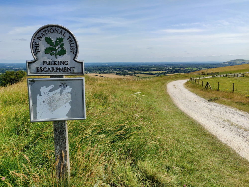 South Downs Way, Fulking escarpment sign